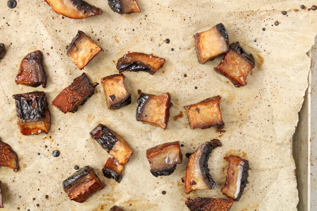 Roasted portobello mushroom