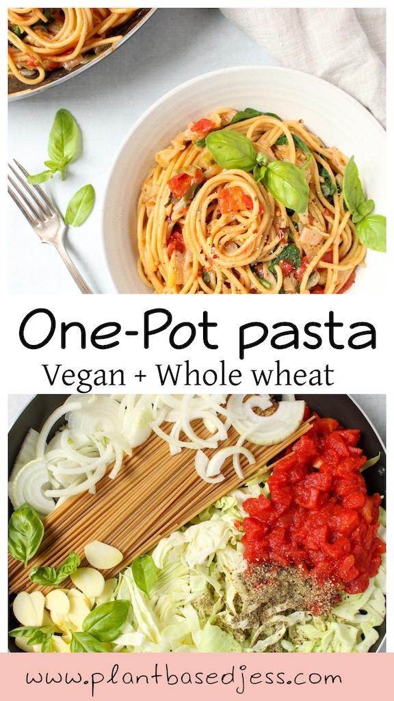 One Pot Whole Wheat pasta